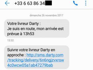 sms message de service