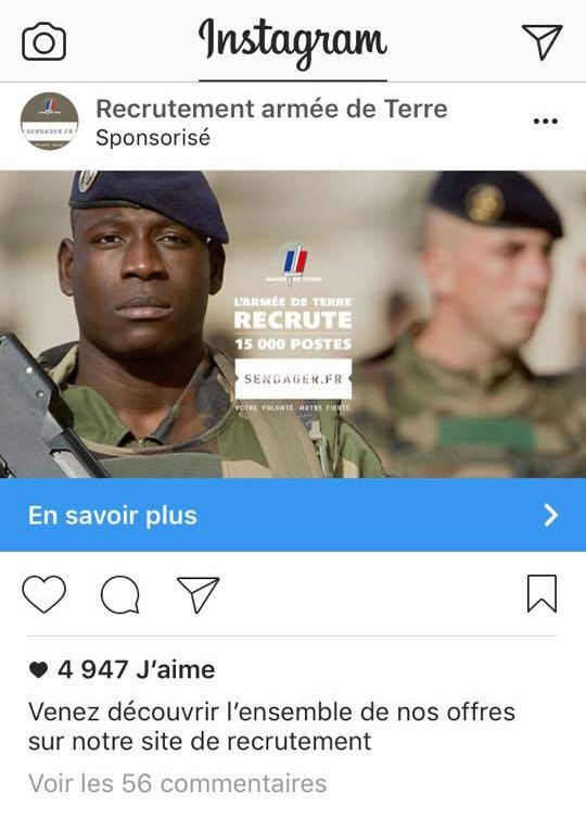 post sponsorisé Instagram